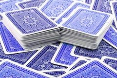 纸牌游戏啤牌 免版税库存图片