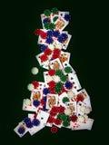 纸牌游戏形状英国 免版税图库摄影