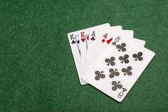 纸牌游戏手-一个对 免版税图库摄影