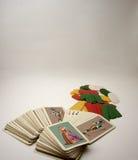 纸牌游戏箱子卡片 免版税库存照片