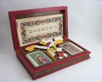 纸牌游戏箱子卡片 库存图片