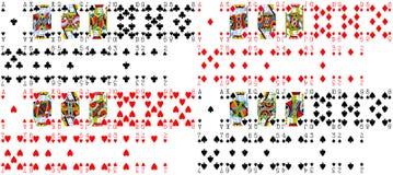 纸牌游戏纹理 库存照片