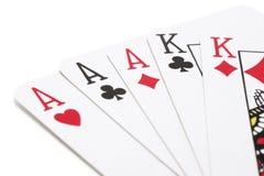 纸牌游戏 免版税库存图片