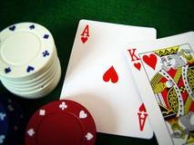 纸牌游戏 库存照片