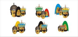 纸牌的面孔垃米纸牌戏和卡西诺的 库存例证