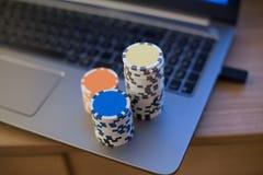 纸牌筹码笔记本3 库存照片