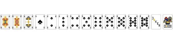 纸牌-映象点锹映象点艺术 皇族释放例证