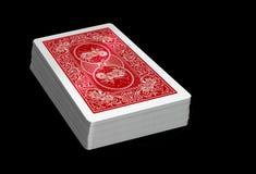 纸牌-红色甲板 免版税库存照片