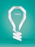 纸电灯泡想法 库存图片