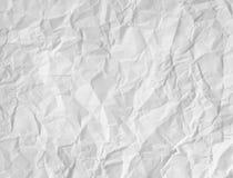 纸白色起了皱纹 免版税库存照片