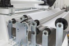 纸的卷机器 免版税图库摄影