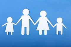 从纸的家庭 免版税图库摄影