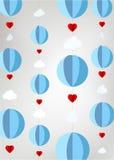 从纸的风格化热空气气球 免版税库存照片