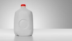 纸盒加仑牛奶 免版税库存照片