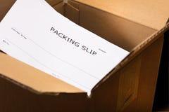 纸盒发运 库存照片