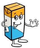 纸盒牛奶字符 库存例证