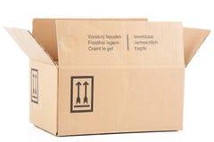 纸盒箱子在白色背景中 免版税库存照片