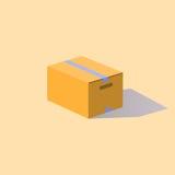 纸盒箱子密封与磁带 库存图片