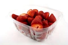 纸盒草莓 库存图片