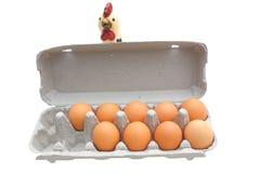 纸盒鸡蛋 库存图片