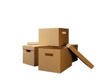 纸盒 皇族释放例证