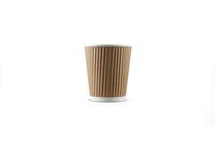 纸盒coffe杯子 库存图片