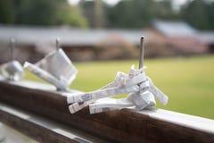 纸祷告和祝愿折叠和栓在Todaiji寺庙 免版税库存图片