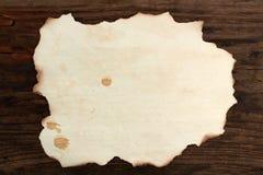 纸空白被烧的木老斑点 免版税库存图片
