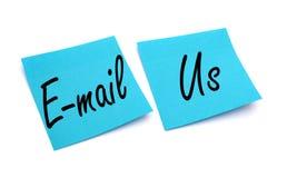 纸笔记电子邮件我们 免版税库存照片
