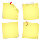 纸笔记 免版税库存照片
