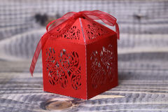 纸红色配件箱 免版税图库摄影