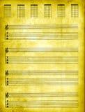 纸羊皮纸tablature 免版税图库摄影