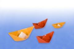 纸船 免版税库存图片