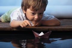 纸船 库存照片