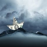 纸船 免版税库存照片