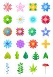 纸花导航花卉装饰或开花的贺卡装饰开花的邀请的在生日例证 库存照片