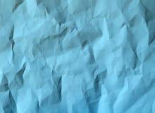 纸蓝色颜色被弄皱的纹理  免版税库存照片