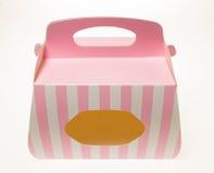 纸蛋糕盒 免版税库存图片