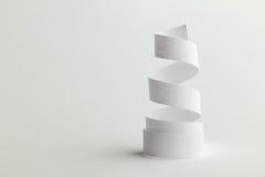 纸螺旋白色 库存照片