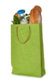 纸袋用食物 免版税库存照片