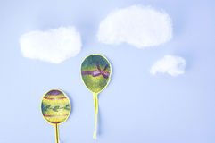 纸裁减气球 库存照片