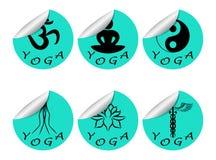 贴纸设置了瑜伽 库存图片