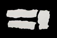 纸部分被撕毁的白色 免版税库存照片