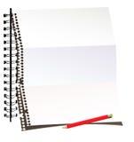 纸铅笔页 图库摄影