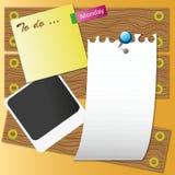 纸页木头 向量例证