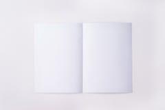 纸页白色 库存图片
