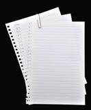 纸页笔记本 库存图片