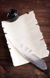 纸页葡萄酒 库存照片