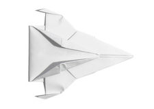 纸顶上的看法太空飞船  库存图片