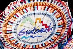 纸风筝在安提瓜岛,危地马拉 免版税库存图片